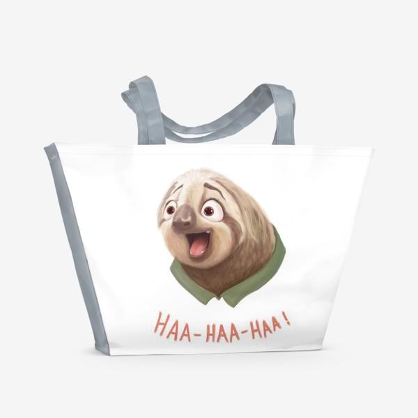 Пляжная сумка «Веселый ленивец»