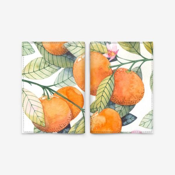Обложка для паспорта «мандаринки»