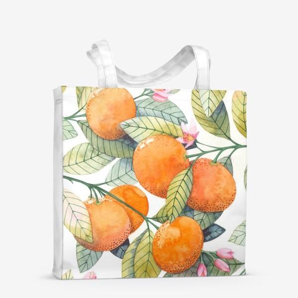 Сумка-шоппер «мандаринки»