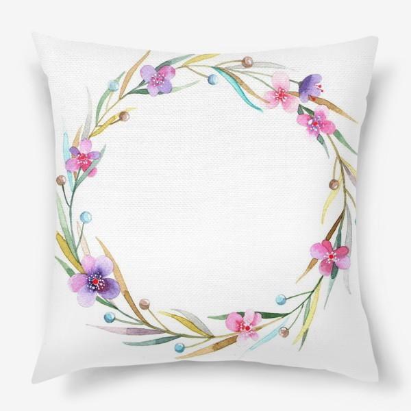 Подушка «цветочный веночек»