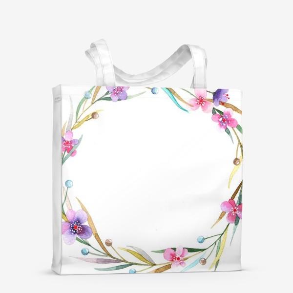 Сумка-шоппер «цветочный веночек»