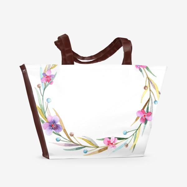 Пляжная сумка «цветочный веночек»