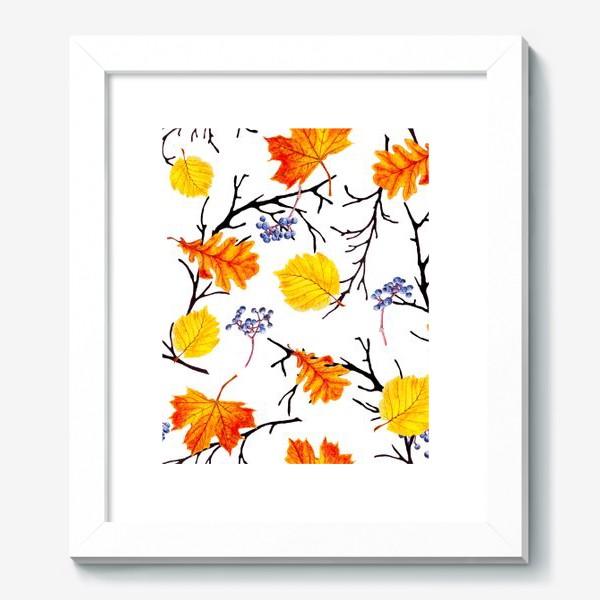 Картина «Осенние листья и дикий виноград»