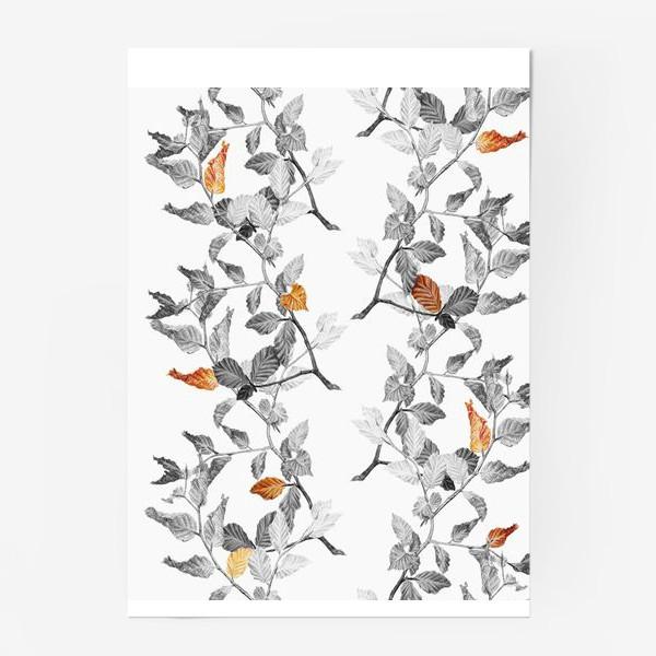 Постер «Осенние листья винтаж»