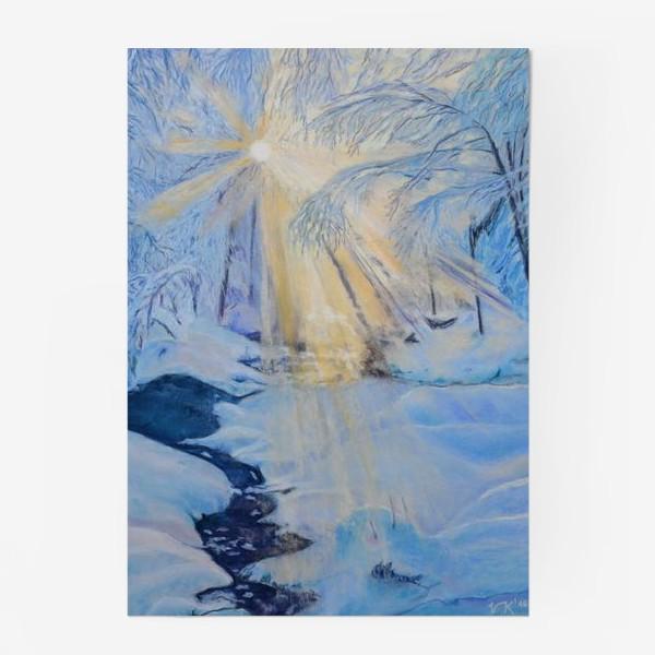Постер «зимний пейзаж»