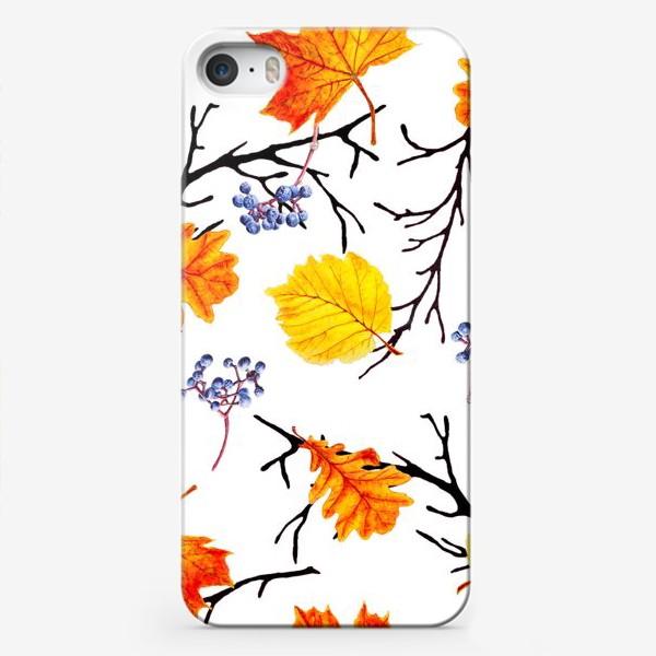 Чехол iPhone «Осенние листья и дикий виноград»
