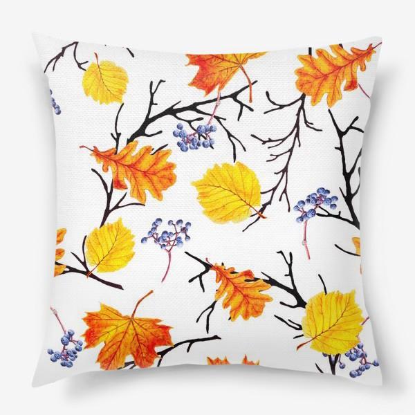 Подушка «Осенние листья и дикий виноград»