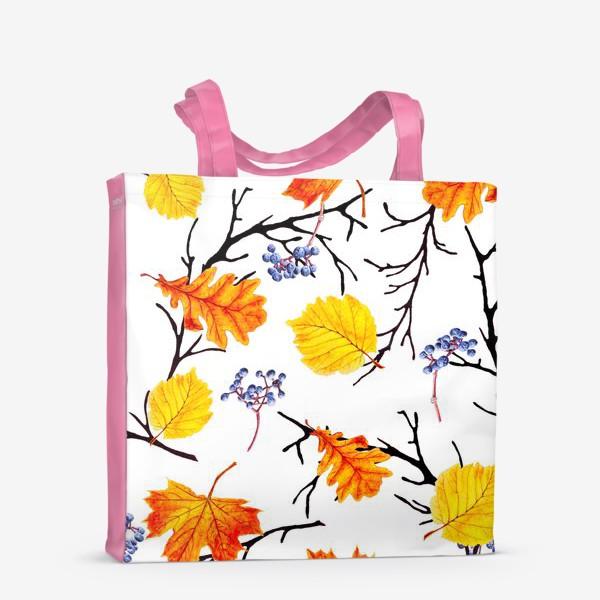 Сумка-шоппер «Осенние листья и дикий виноград»