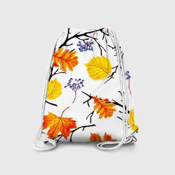 Рюкзак «Осенние листья и дикий виноград»