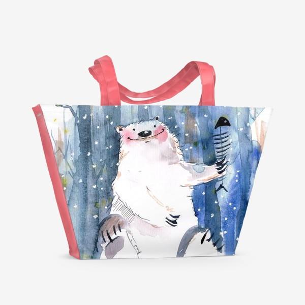 Пляжная сумка «Мишка »