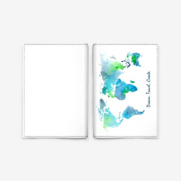 Обложка для паспорта «Dream. Travel. Create.»