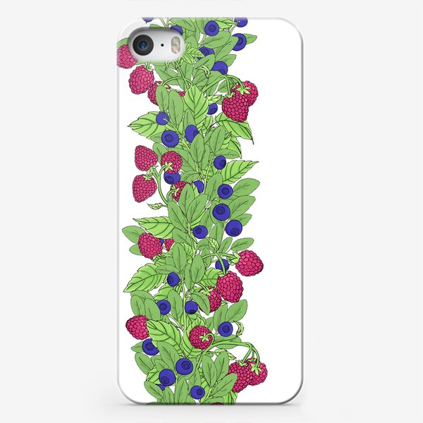Чехол iPhone «Летние ягоды паттерн»