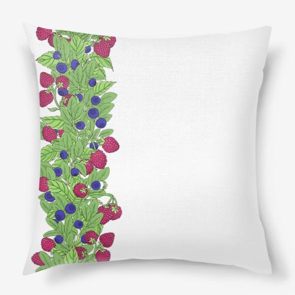 Подушка «Летние ягоды паттерн»