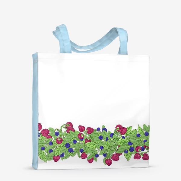 Сумка-шоппер «Летние ягоды паттерн»