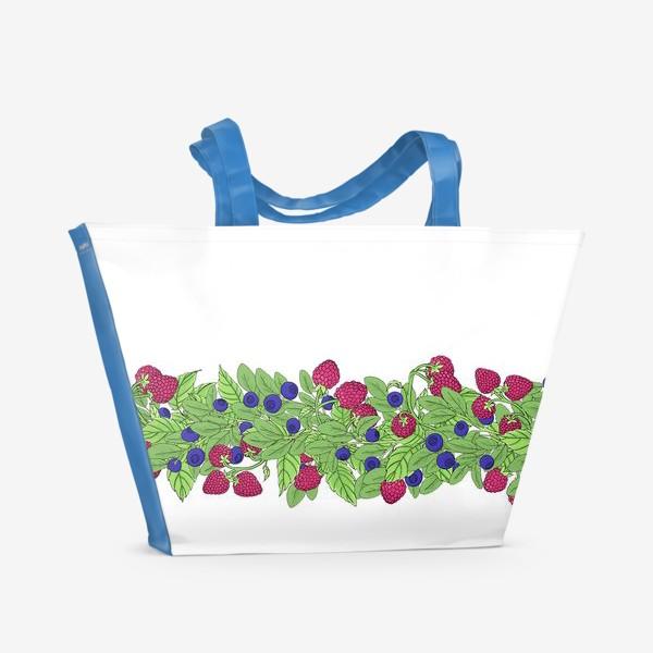 Пляжная сумка «Летние ягоды паттерн»