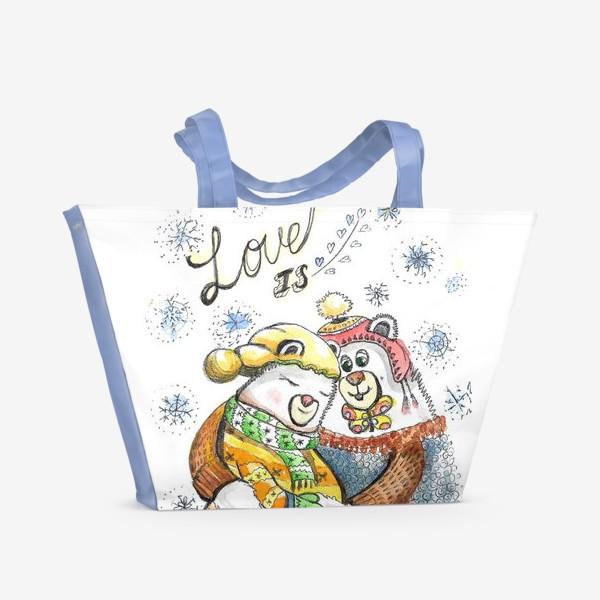 Пляжная сумка «Ожидание чуда»