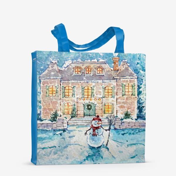 Сумка-шоппер «Снеговик»