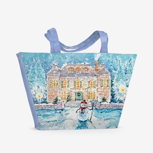 Пляжная сумка «Снеговик»