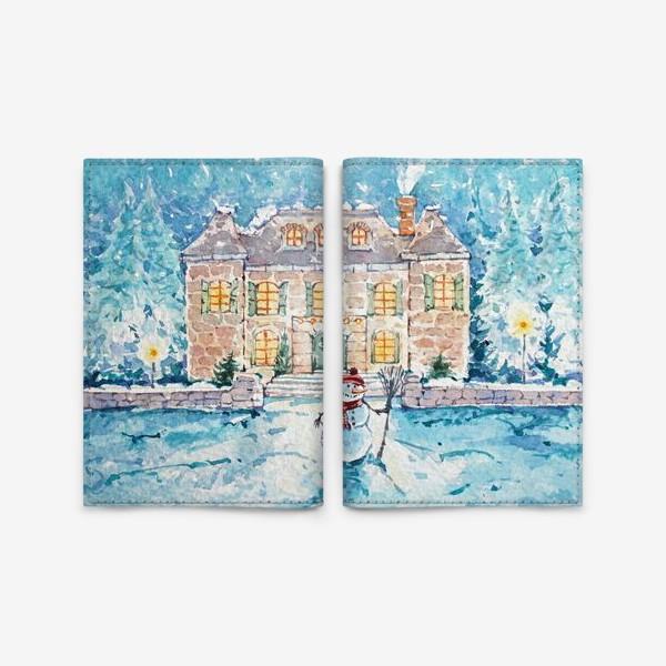 Обложка для паспорта «Снеговик»