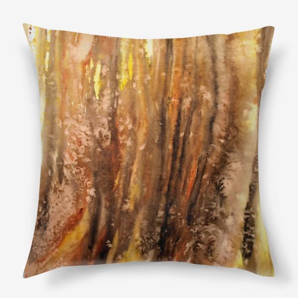 Подушка «Осенний лес. Абстракция.»