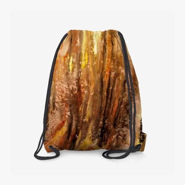 Рюкзак «Осенний лес. Абстракция.»