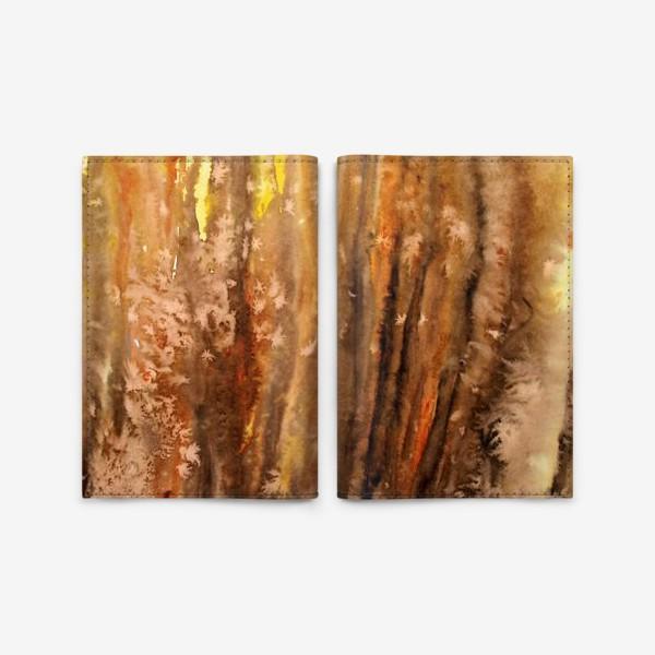 Обложка для паспорта «Осенний лес. Абстракция.»