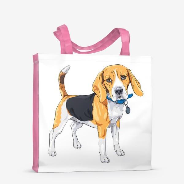 Сумка-шоппер «собака породы бигль»