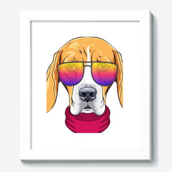 Картина «бигль в очках»