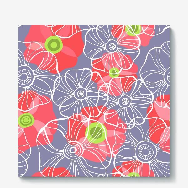 Холст «текстура милые цветочки»