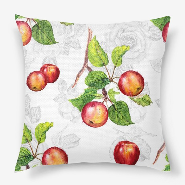 Подушка «Красные яблоки»