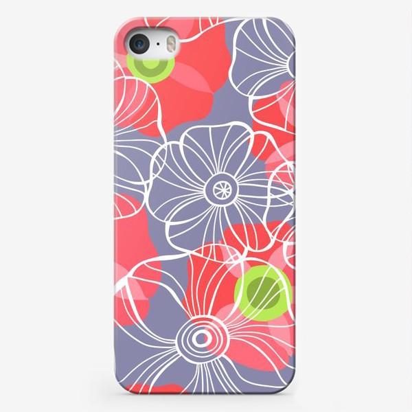 Чехол iPhone «текстура милые цветочки»