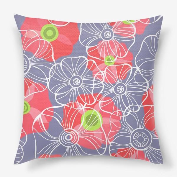 Подушка «текстура милые цветочки»