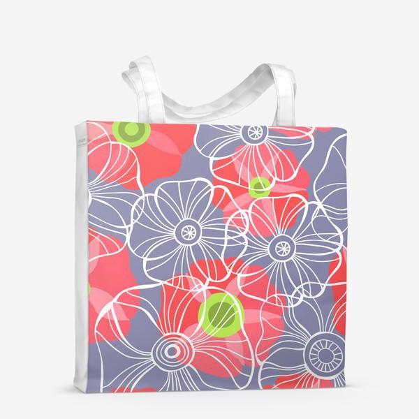 Сумка-шоппер «текстура милые цветочки»