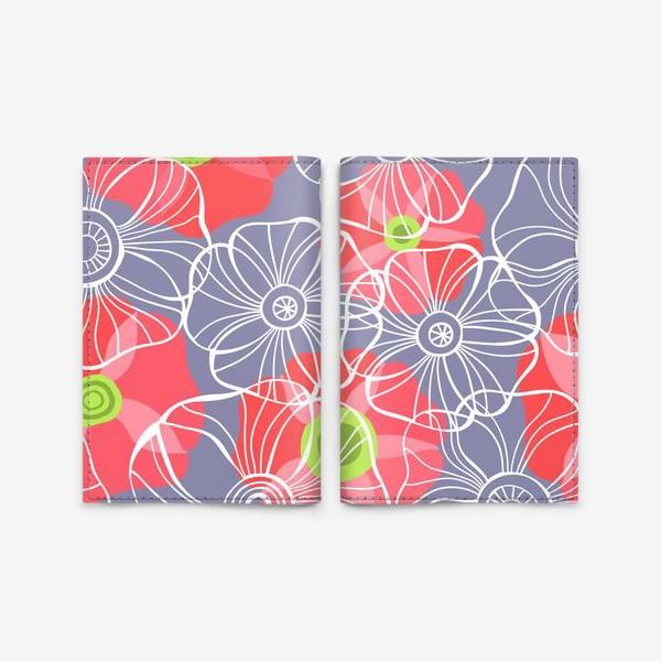 Обложка для паспорта «текстура милые цветочки»