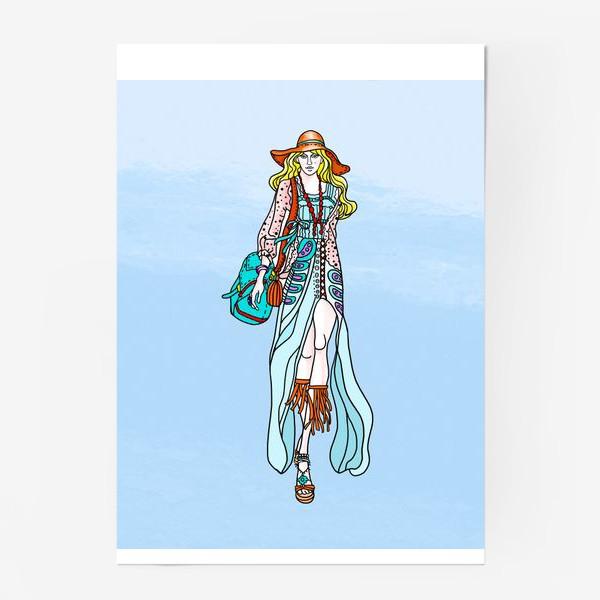 Постер «Hippie-coloring»