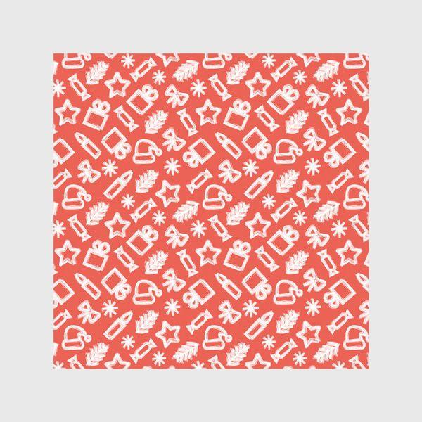 Скатерть «Новогодний узор, красный»