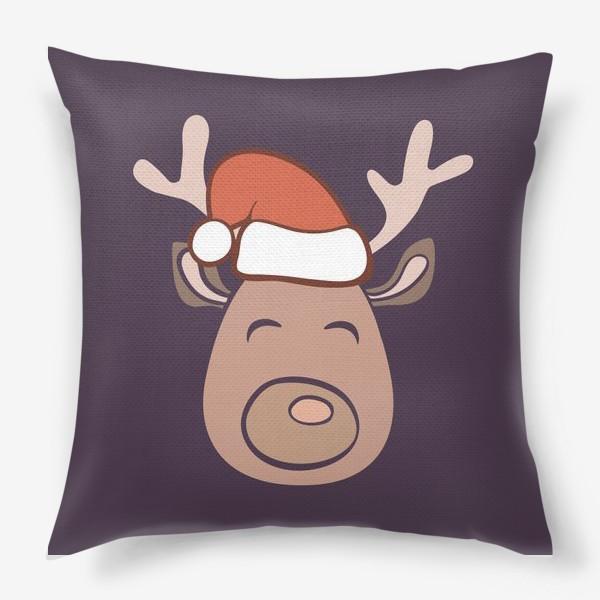 Подушка «Рождественский олень»
