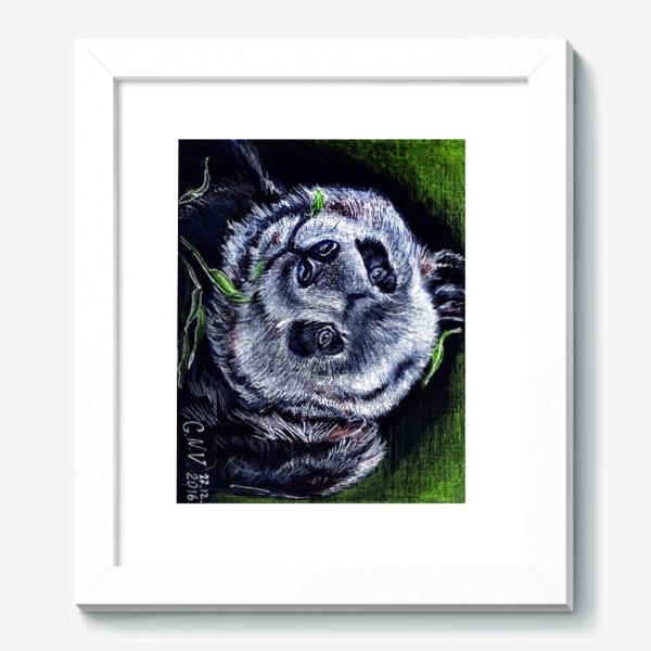 Картина «панда и листик бамбука »
