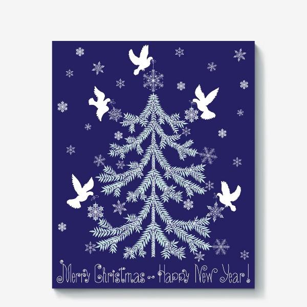 Холст «Елка новогодняя»