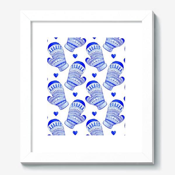 Картина «Зимние варежки акварель»
