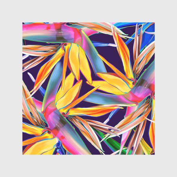 Скатерть «Тропические цветы, стрелиция»