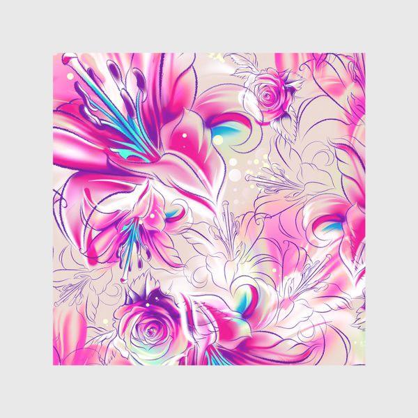 Скатерть «Бесшовный паттерн с лилиями»