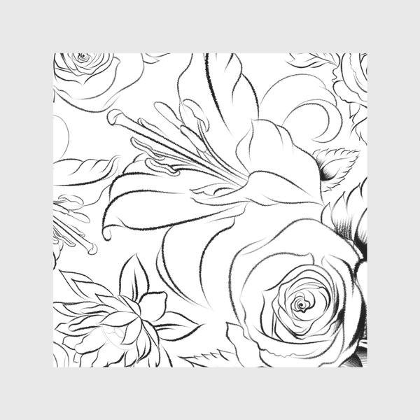 Скатерть «Бесшовный паттерн с цветами»