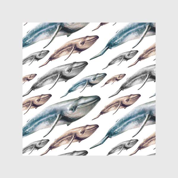 Скатерть «Паттерн с китами»