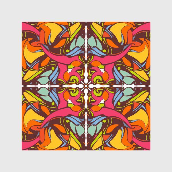 Шторы «Абстрактный оранжевый узор»