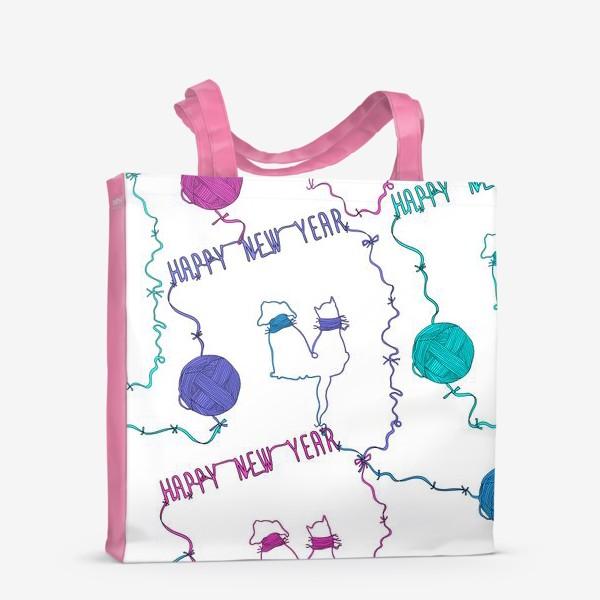 Сумка-шоппер «Happy New Year. Текстильный паттерн»