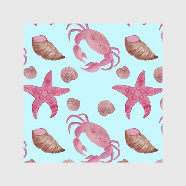 Шторы «Blue Crab Pattern»