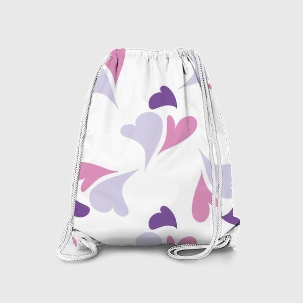 Рюкзак «Hearts Purple Pattern»