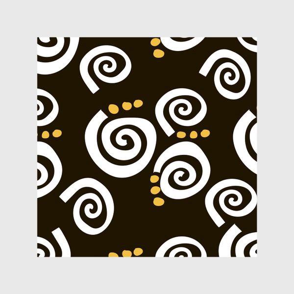 Шторы «Spirals Black»