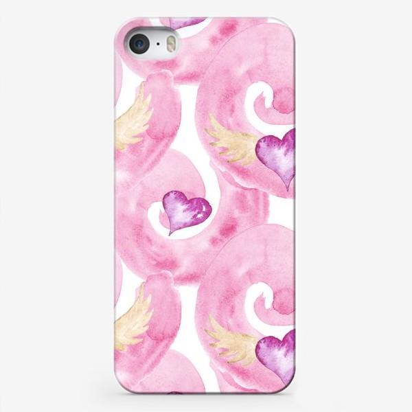 Чехол iPhone «Сердечки Розовые»